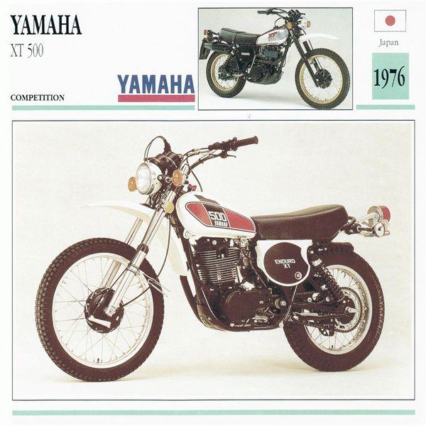 Yamaha XT 500 card