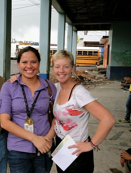 Friendly Officials at Honduran border