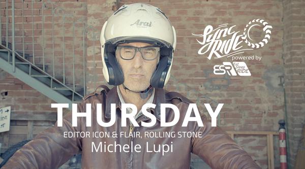THURSDAY Michele rides through the Italian countryside