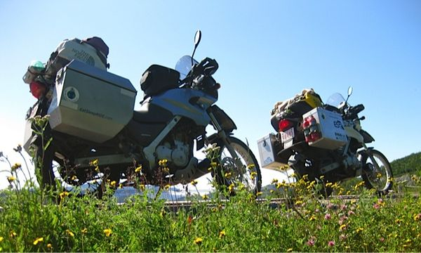 bikes and wild flowers