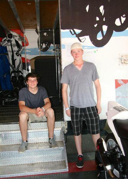 Smith and Roche before Race #10 CBR250R CSBK
