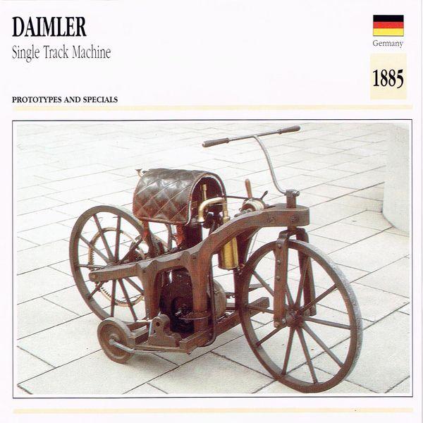 Daimler Single Track Machine card