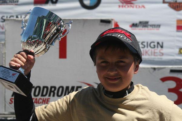 Casas 1st place Race #2 St-Eustache CBR250 CSBK '12