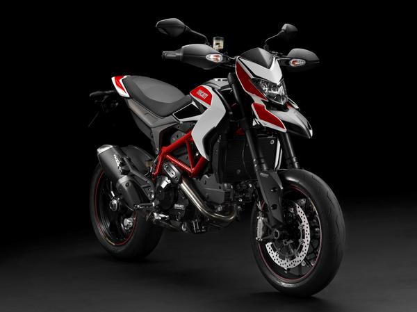 2013 Ducati Hypermotard SP - front quarter view