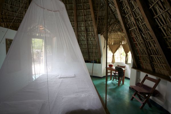 our cabana - swinging bed & mosquito net