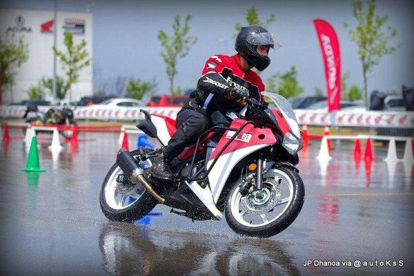 Moto Gymkhana in the rain