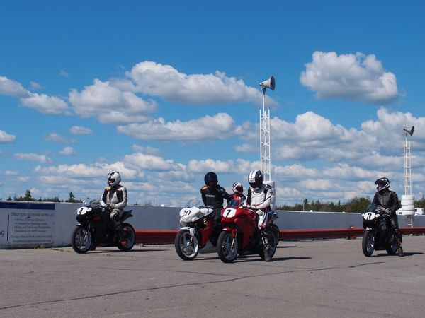 CSBK Shannonville practice ride 1 starting line