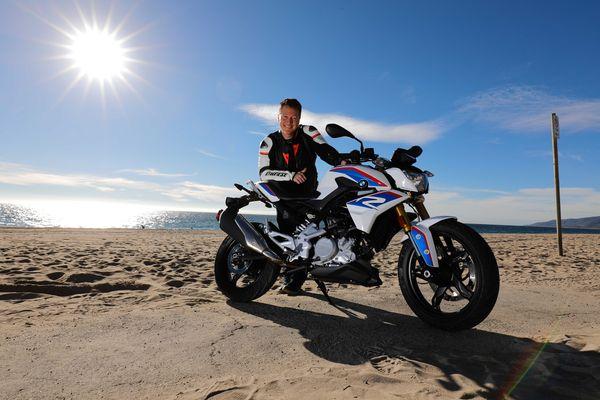 Eric Menard at Zuma Beach in Malibu enjoying some sun near the Sunset Restaurant