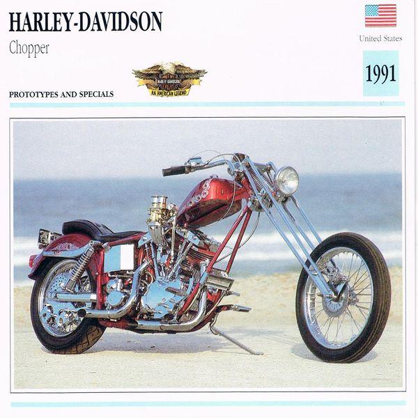 Harley-Davidson Chopper card