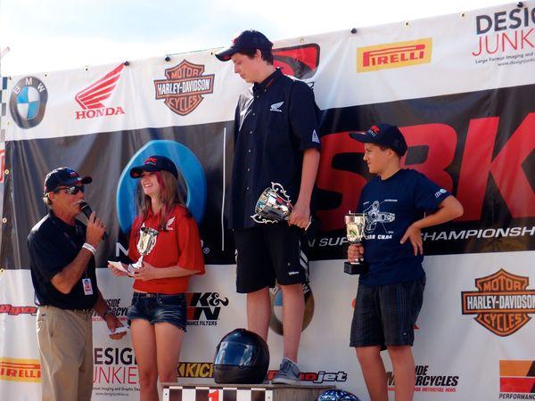 Race #1 CBR250R Winners circle