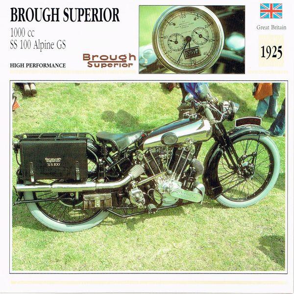 Brough Superior 1000cc SS 100 Alpine GS card