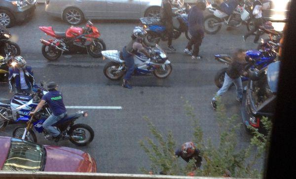 Range Rover vs Motorcycles NYC