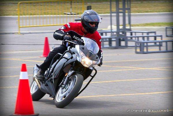 Rock the Red - Moto Gymkhana at Honda Canada campus
