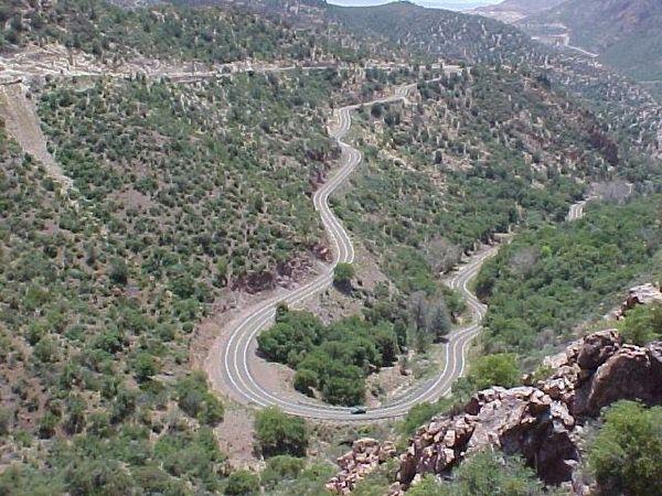Switchbacks on the Coronado Trail, Arizona