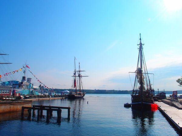 Halifax-Dartmouth ships at the docks