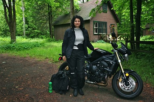 Marina and her Street Triple