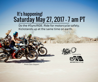 We did it! SyncRIDE: the largest global, synchronized, motorcycle ride in history