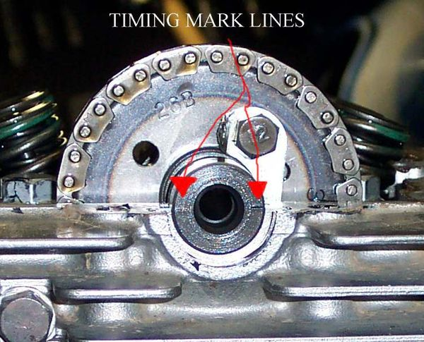 Valve Timing - Timing Line On Cam