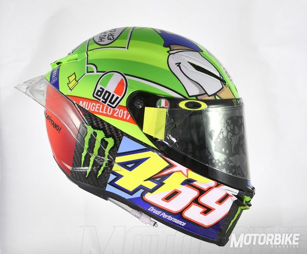 Rossi was just one of many riders sporting a tribute to the late Nicky Hayden this weekend