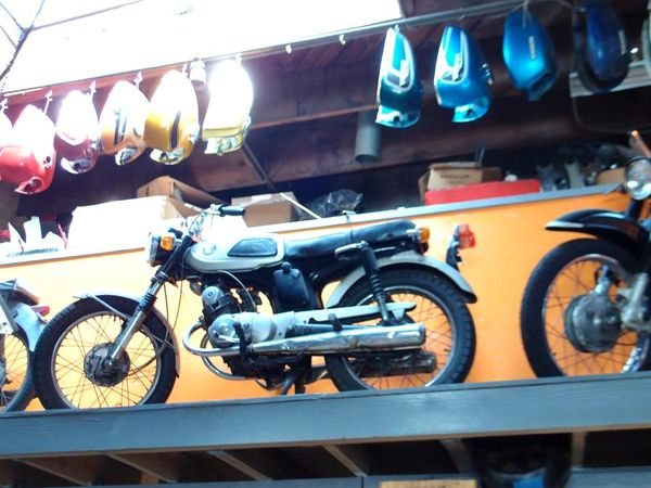 1967 Honda SS125A on display at Charlie's Place