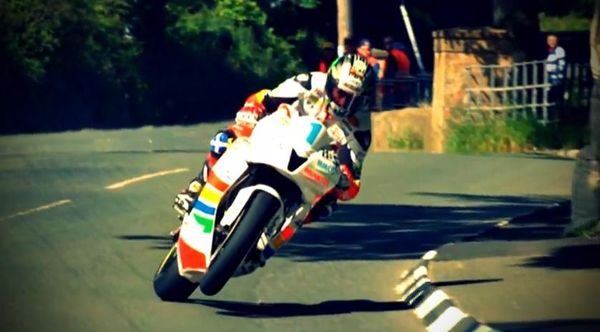 Leaned in with the front wheel still in the air - IOMTT