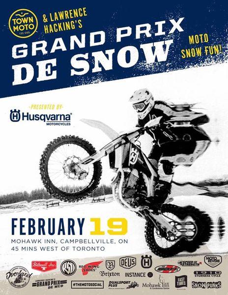 Husqvarna Grand Prix de Snow - Saturday, Feb 19th