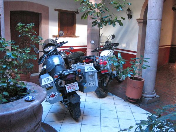 Lobby parking in Zacatecas, Mexico