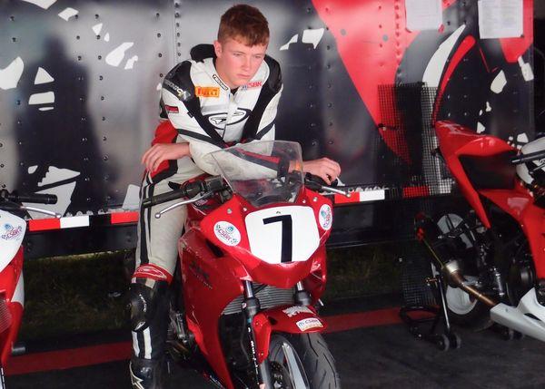 Sean Smith preparing for the race