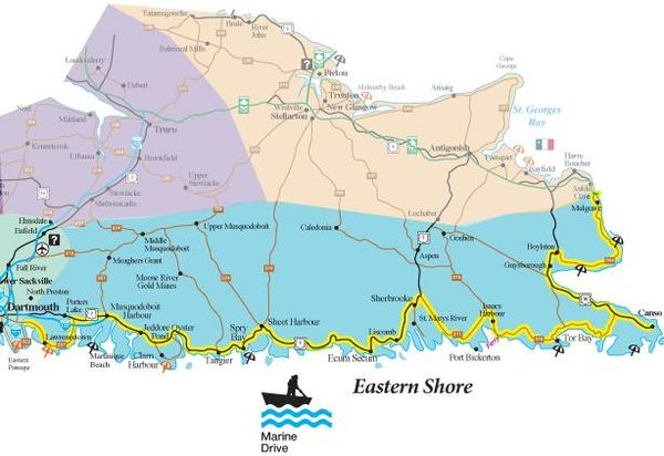 The Best Motorcycle Coastal Ride In Nova Scotia: Marine Drive In 7