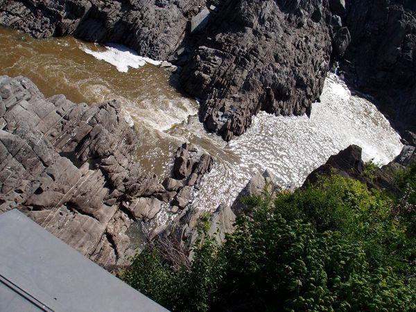 Ziplining view  in Grand Falls, New Brunswick