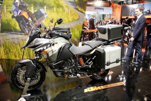 The KTM1190 Advenure looked a little left out at EICMA 2013
