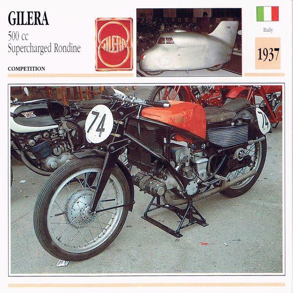 Gilera 500cc Supercharged Rondine Card