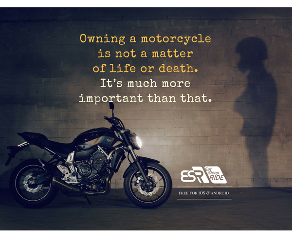 Indeed, owning a motorcycle is way more important than that #ESRapp