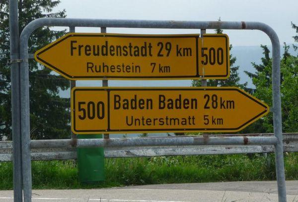 B500 sign