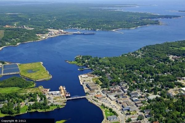Liverpool, Nova Scotia from above