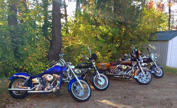 Harley Davidsons in the Catskills
