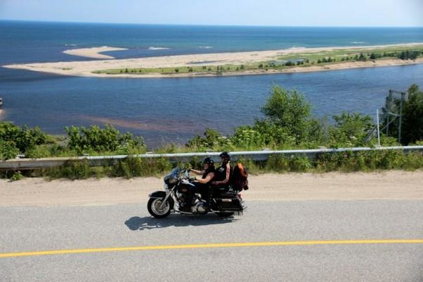 Motorcycle on Route 138 Quebec