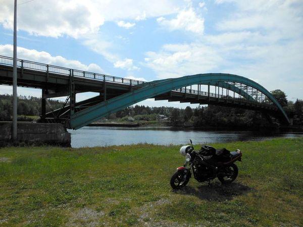 Sheet Harbour Bridge on Marine Drive, Nova Scotia