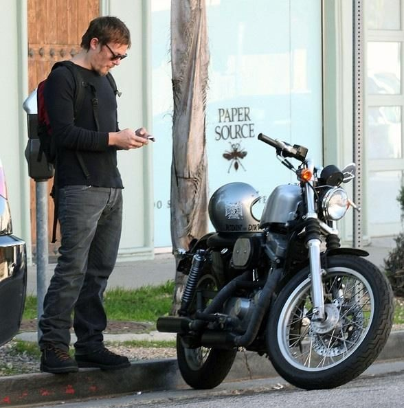 Norman Reedus and his Harley-Davidson Sportser