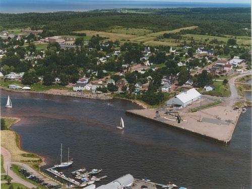 Pugwash, Nova Scotia from above