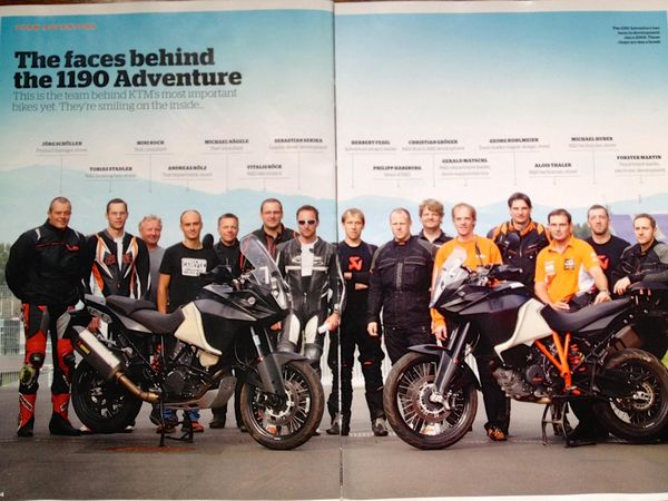 KTM 1190 Adventure - the makers