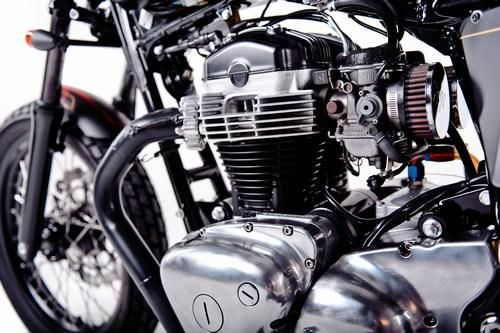 Garage Project Motorcycle's Street Tracker - engine closeup 1