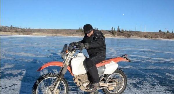 Honda 250 studded ice tires