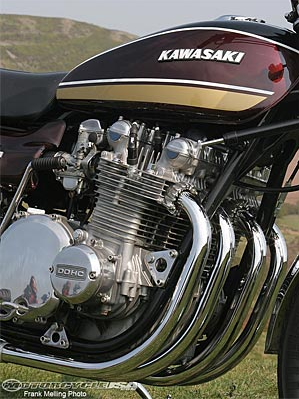 Kawasaki Z1 powerplant was built to last fast