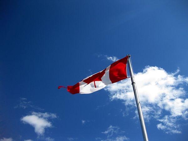 SK Wind tears flag