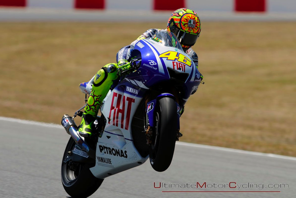 Valentino Rossi hits the sweet sopt