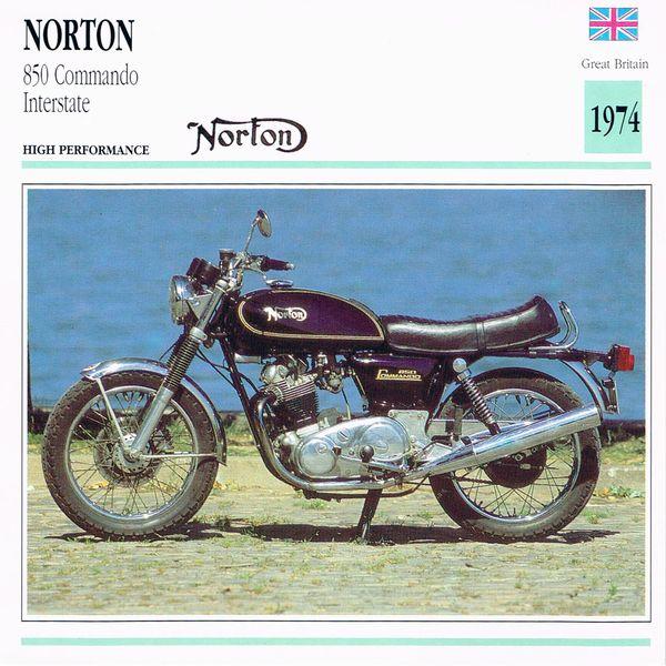 Norton 850 Commando Interstate card