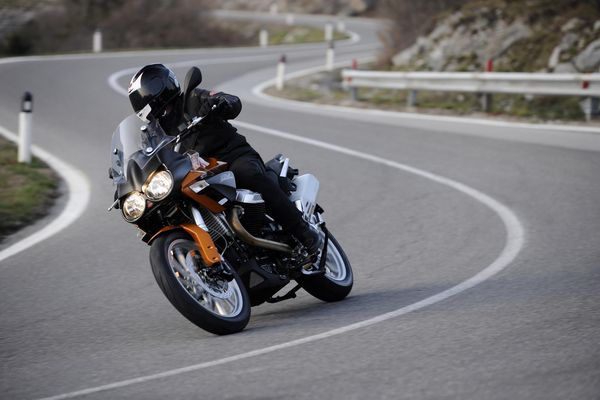 2013 Moto Guzzi Stelvio - in action