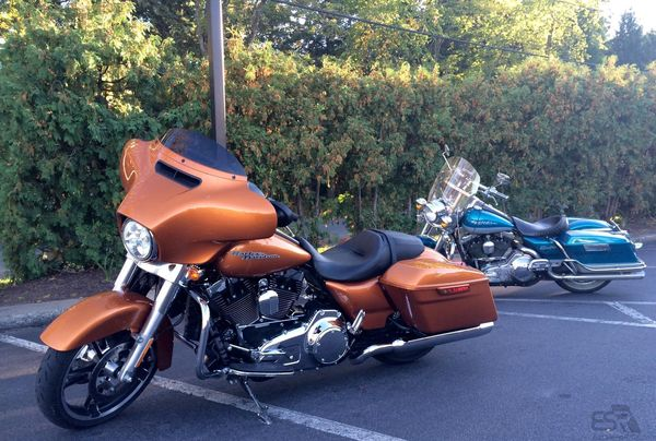2014 Street Glide and 1994 Road King