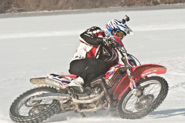 Supermotard Motorcycle Ice Racing Szoke Style Blogpost Eatsleepride